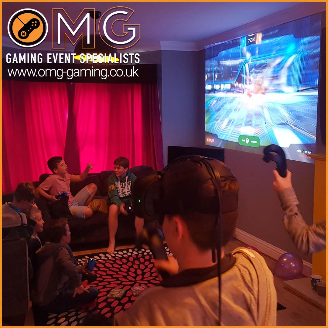 Virtual Reality and Gaming Birthday Party at Home