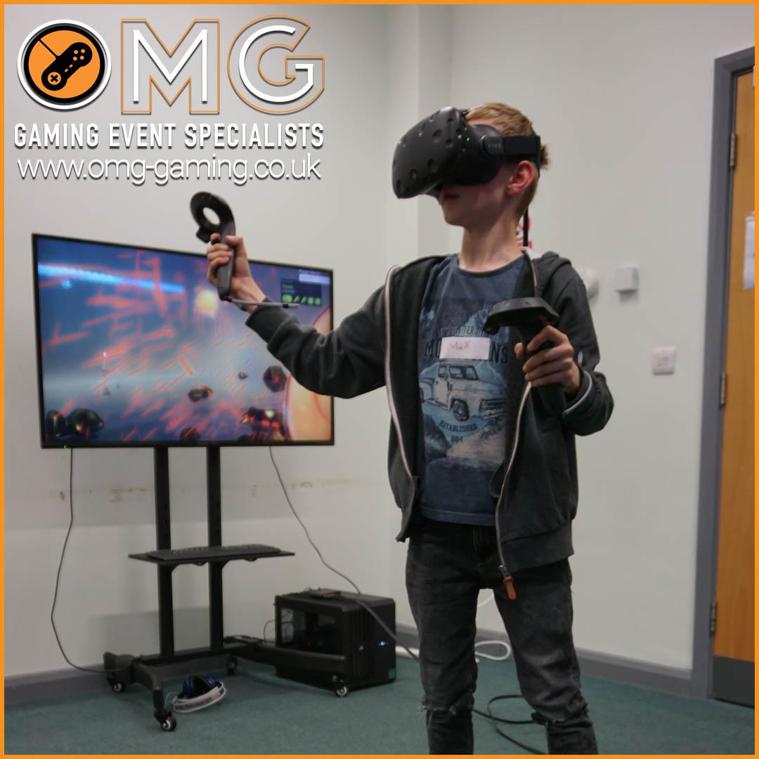 Immersive Virtual Reality at a boys birthday party