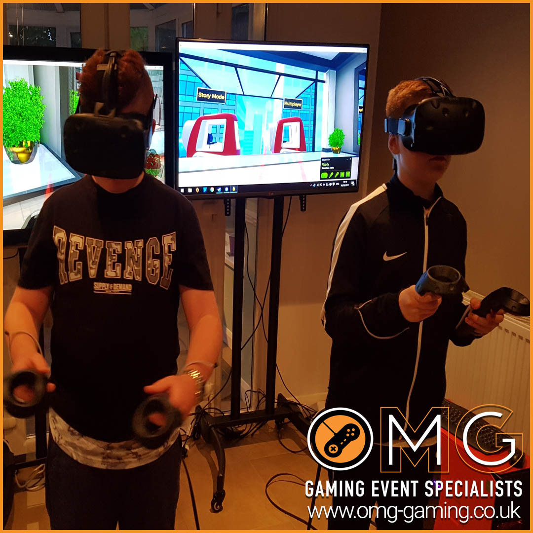 Teenage Boys Virtual Reality Gaming Birthday Party